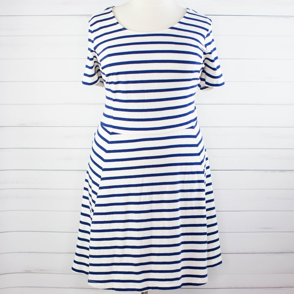 Old Navy Fit & Flare Plus Size Dress Stripes 3X NWT